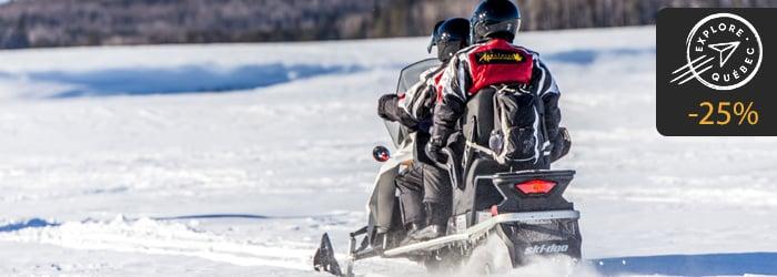 Explore Québec sur la route forfait motoneige