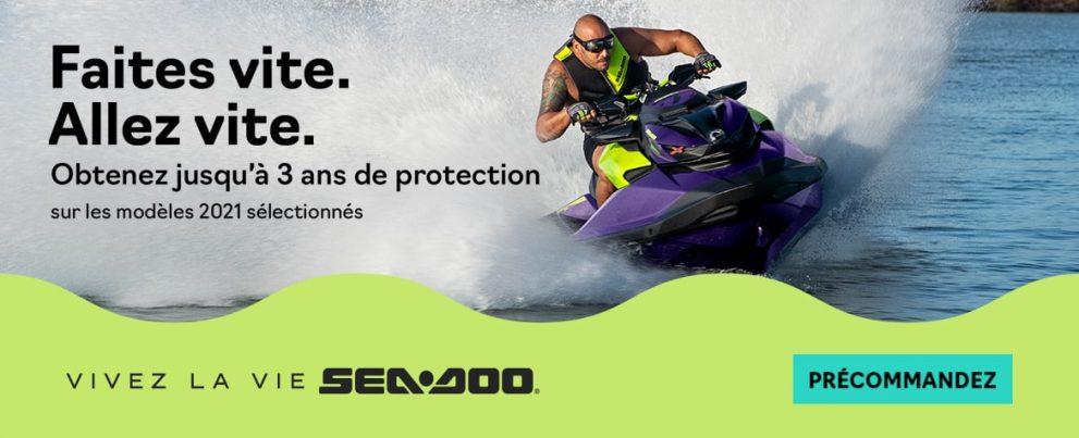 Réservez votre Sea-Doo 2021 dès maintenant