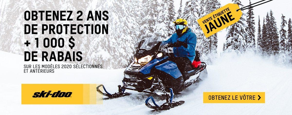 Vente Ski-Doo étiquette jaune