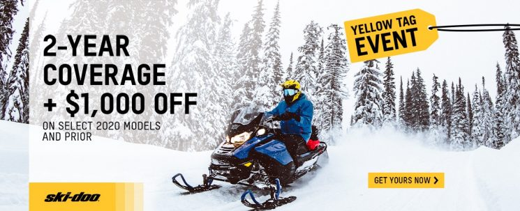 Yellow tag Ski-Doo sale