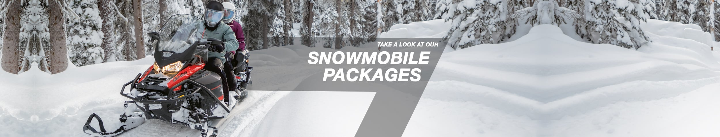 Take a look at our snowmobile packages