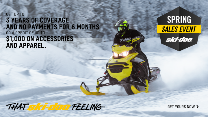 Spring sales event 2022 : Ski-Doo and Lynx